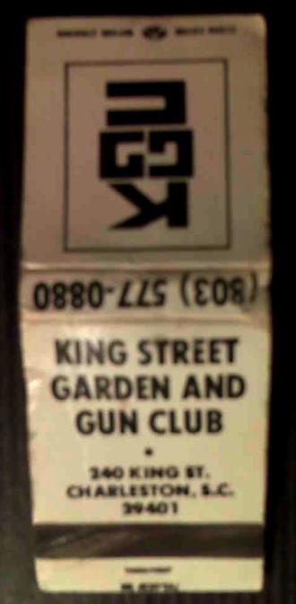 Garden and Gun Club matchbook